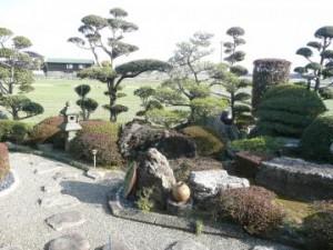 すばらしい景観の庭