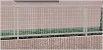 アルメッシュフェンスT-8 シャイングレー フリーポールタイプ