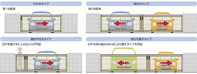 タイプ(片引き) 車1台駐車