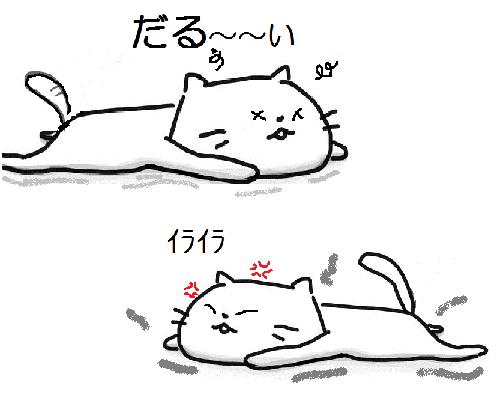 いらだる猫