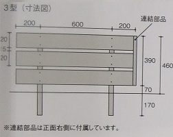 Eフェンス寸法図