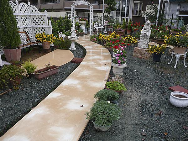 マーブル模様の床