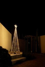 イルミネーション シャイニングツリー シャンパンゴールド180cm