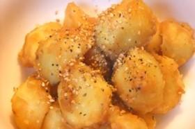 ジャガイモの味噌バターがーリック和え