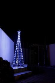 イルミネーション シャイニングツリー ホワイト&ブルー180cm