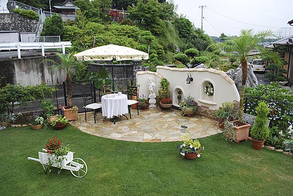 洋風のお庭