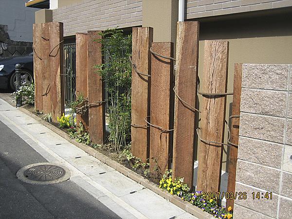 注目を集める木塀